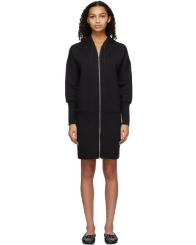 Трикотажное черное платье макси с длинными рукавами Rag & Bone