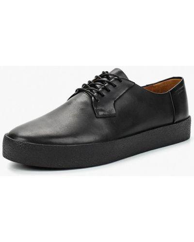 Низкие кеды черные кожаный Vagabond
