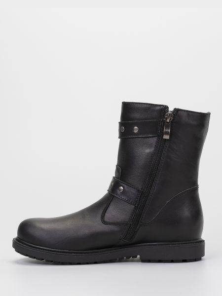 Черные кожаные сапоги на молнии Braska-мальви