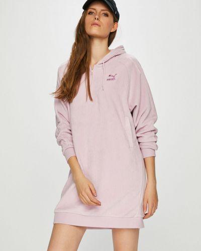 Платье мини с капюшоном свободного кроя Puma