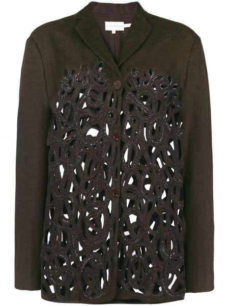 Шерстяная коричневая куртка винтажная Romeo Gigli Pre-owned