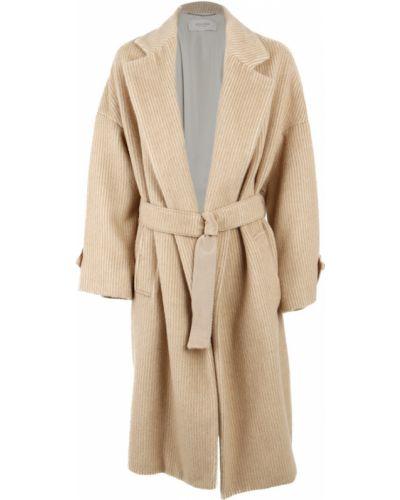 Beżowy płaszcz Agnona