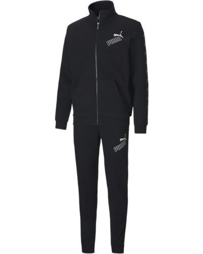 Черный спортивный костюм осенний Puma