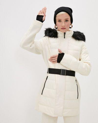 Бежевая утепленная куртка Calvin Klein