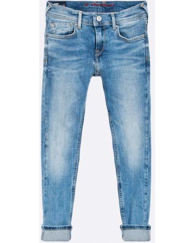 Джинсы кожаный синий Pepe Jeans