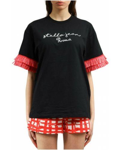 Czarny t-shirt Stella Jean