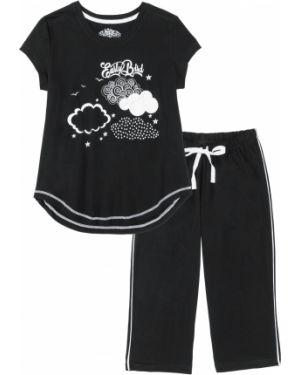 Пижама с брюками черная пижамный Bonprix