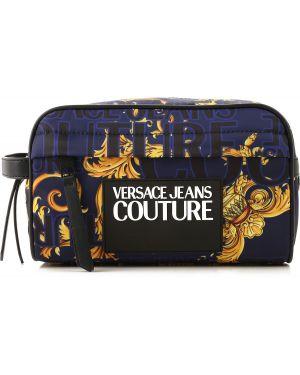Czarna kosmetyczka skórzana Versace Jeans Couture