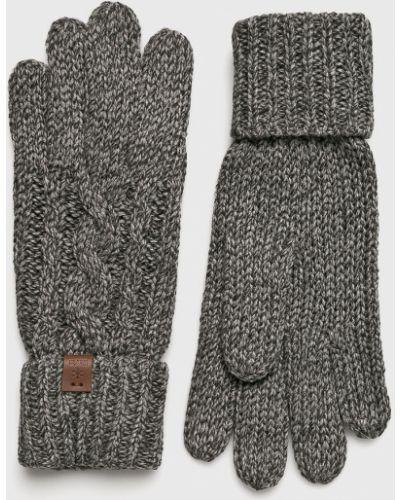 Серые перчатки трикотажные Barts