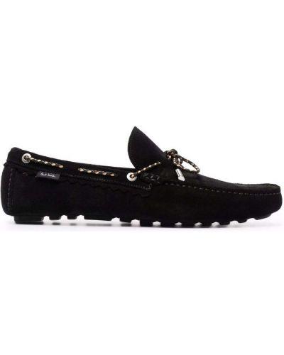 Loafers zamszowe - czarne Ps Paul Smith