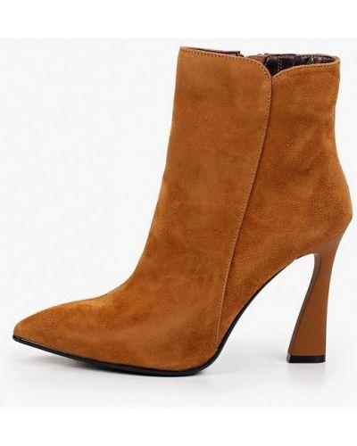 Коричневые ботинки с острым носом Mascotte