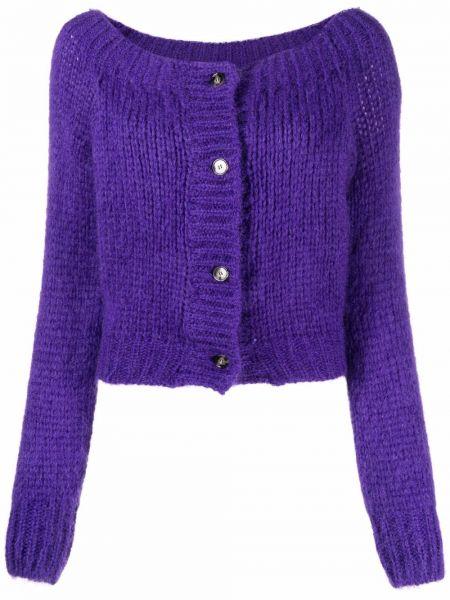 Шерстяной кардиган - фиолетовый Laneus