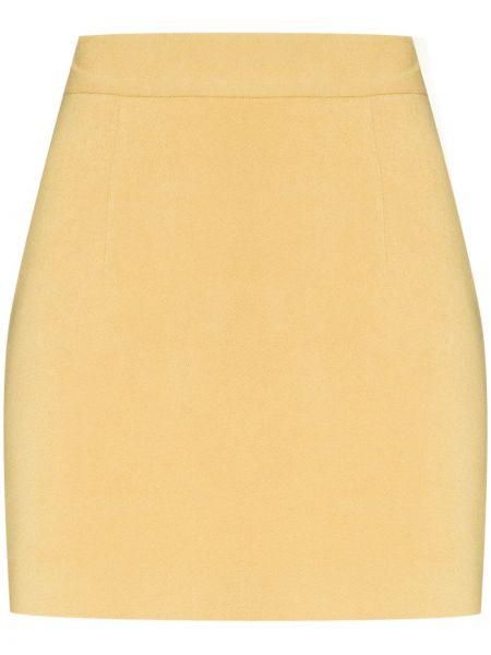 Ватная хлопковая желтая юбка мини Aleksandre Akhalkatsishvili