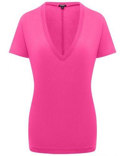 Розовая хлопковая футболка Monrow