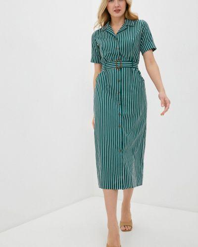 Зеленое платье-рубашка снежная королева