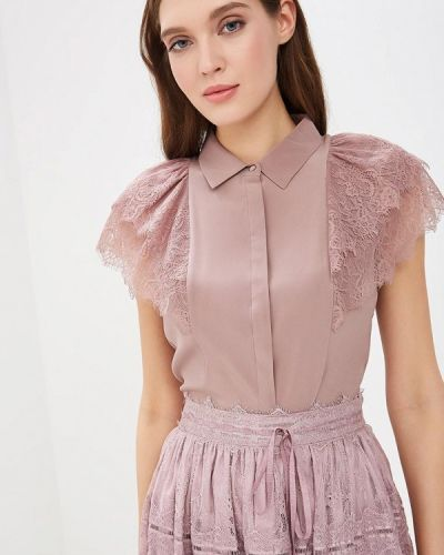 Блузка с коротким рукавом фиолетовый весенний Lusio