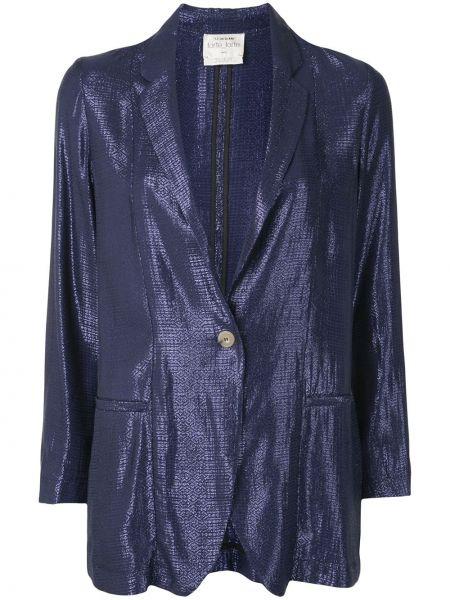 Синий пиджак на пуговицах с лацканами Forte Forte
