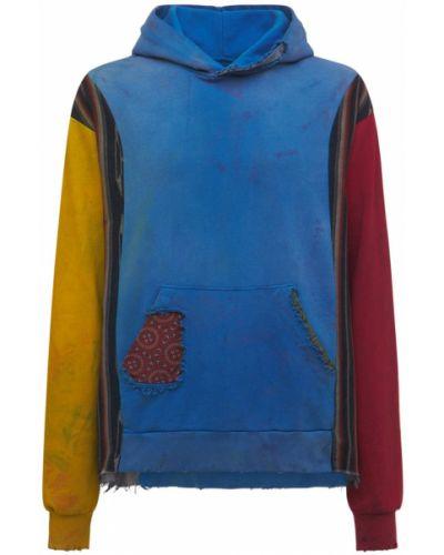 Niebieska bluza bawełniana Alchemist