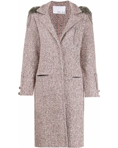 Пальто с капюшоном айвори твидовое с капюшоном 20:52