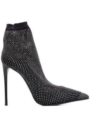 Кожаные черные носки с заклепками Le Silla