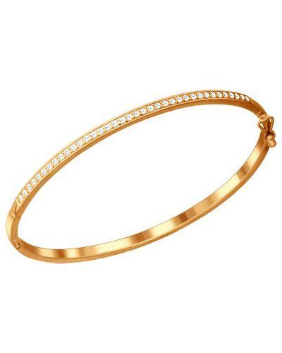 Золотой браслет позолоченный серебряный Sokolov
