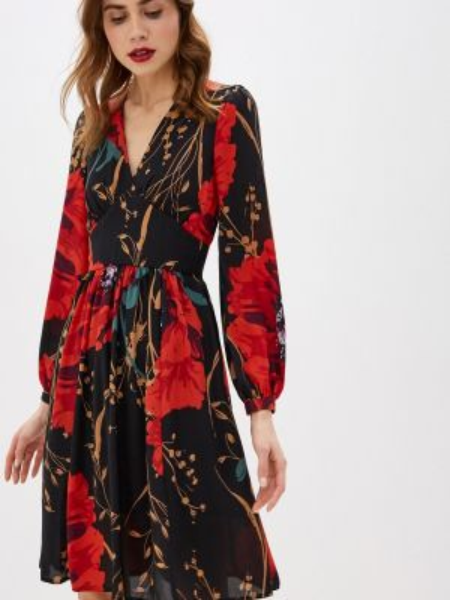 Платье осеннее прямое Villagi