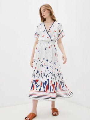 Белое платье с запахом Belarusachka