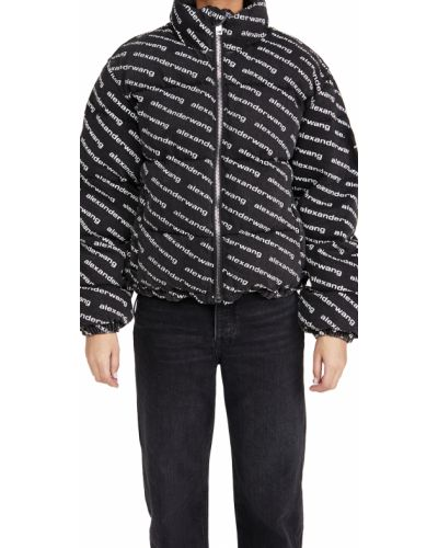 Стеганая белая джинсовая куртка с воротником Denim X Alexander Wang