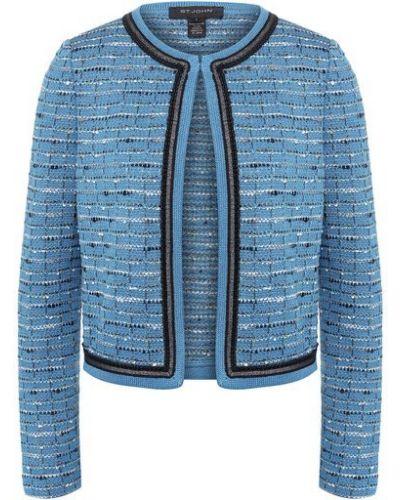 Шерстяной синий пиджак в полоску St. John