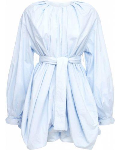 Niebieska satynowa koszula z paskiem Jw Anderson