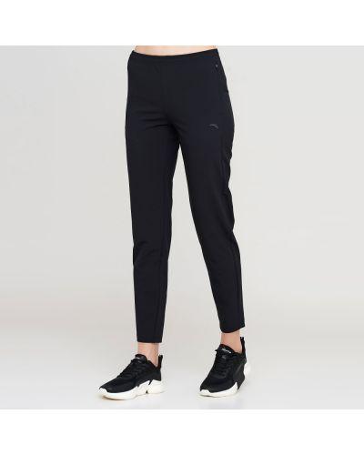 Черные зауженные спортивные брюки с карманами Anta