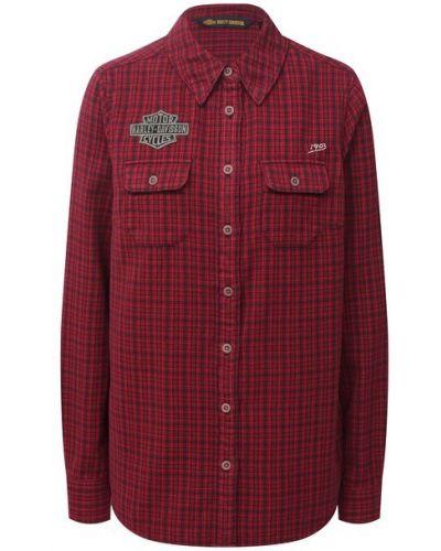 Хлопковая красная блузка Harley Davidson