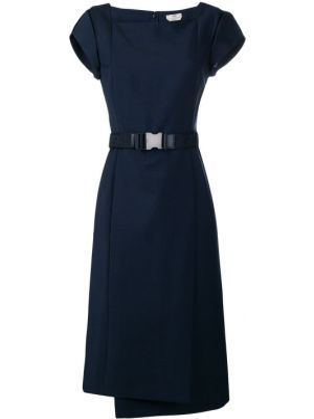 Платье с поясом со вставками на молнии Fendi