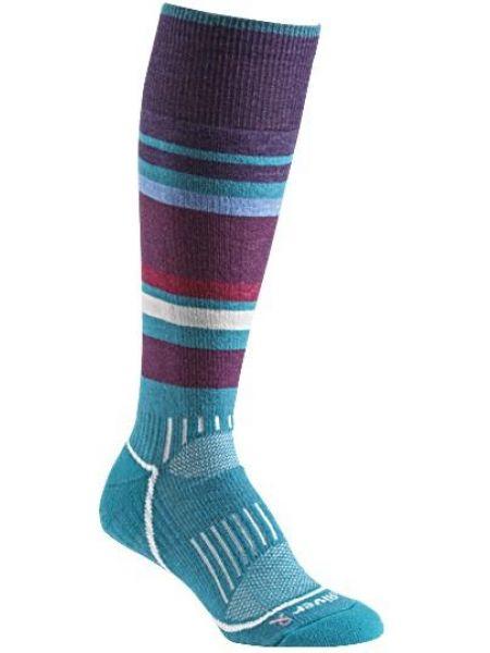 Вязаные коричневые шерстяные носки со вставками Foxriver