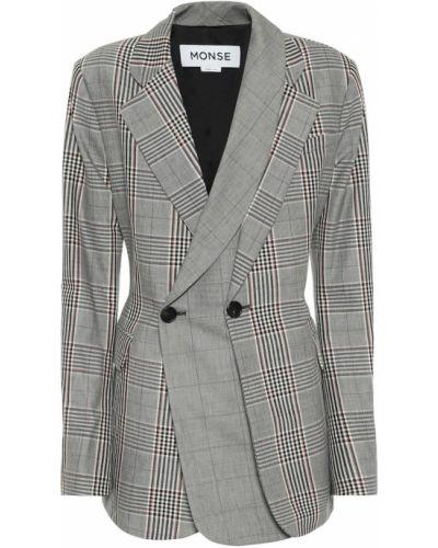 Классический ватный шерстяной классический пиджак с лацканами Monse