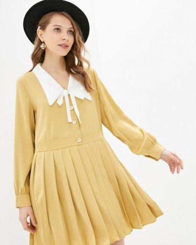 Желтое платье-рубашка Sister Jane