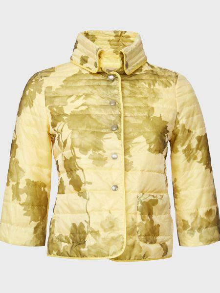 Желтая куртка на кнопках с подкладкой Gallotti