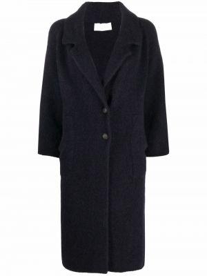 Пальто из альпаки - синее Chiara Bertani