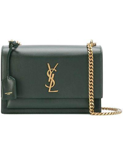Zielony złoty łańcuch ze złota elegancki Saint Laurent