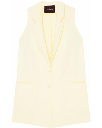 Желтая жилетка с карманами на пуговицах Chapurin