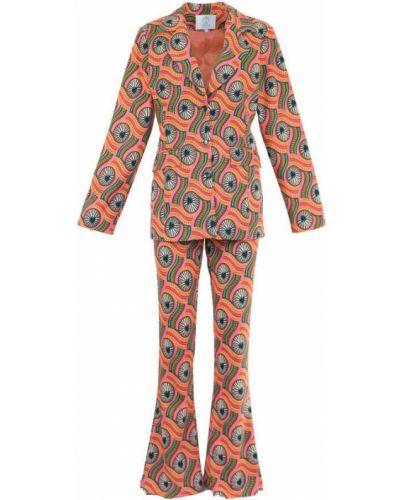 Pomarańczowy garnitur Fortini