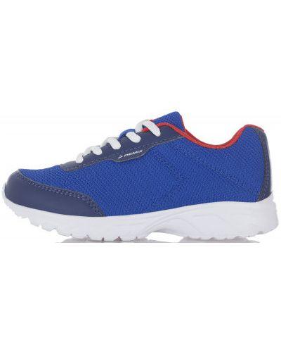 Синие кожаные кроссовки на шнуровке для бега Demix