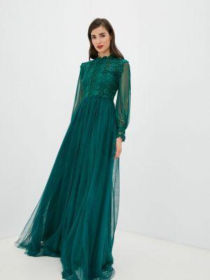 Зеленое платье осеннее Soky & Soka