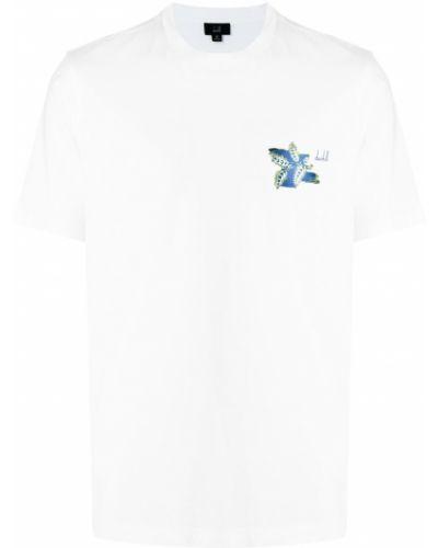 Biała koszulka bawełniana Dunhill