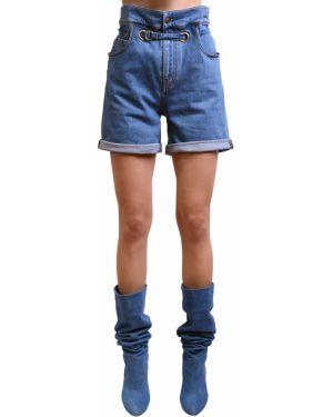 Однобортные джинсовые шорты металлические со стразами Philosophy Di Lorenzo Serafini