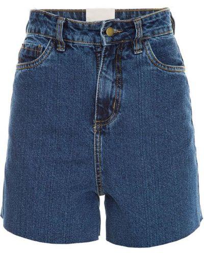 Однобортные джинсовые шорты со стразами Framed
