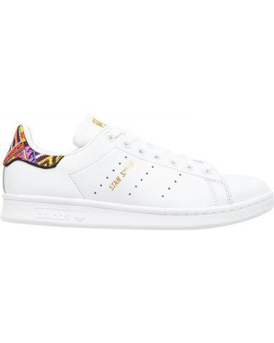 Кожаные кроссовки с перфорацией белый Adidas