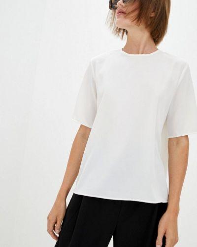 С рукавами белая блузка с коротким рукавом 7arrows