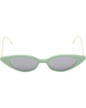 Zielone złote okulary Illesteva