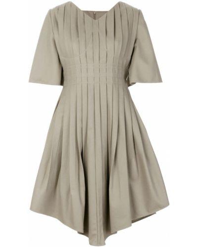 Платье мини плиссированное с V-образным вырезом Vejas